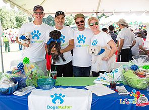The Dogs Matter team at an Outreach event